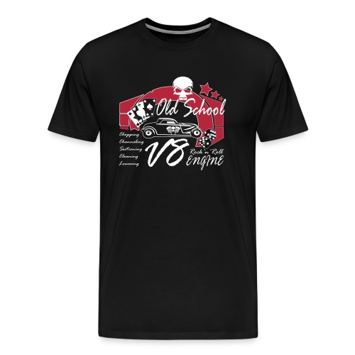 Old School Rock'n'Roll - Hot Rod V8 - Männer Premium T-Shirt