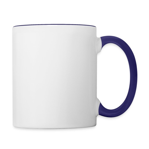 TASSE BICOLORE BLANC / BLEU COBALT - Mug contrasté