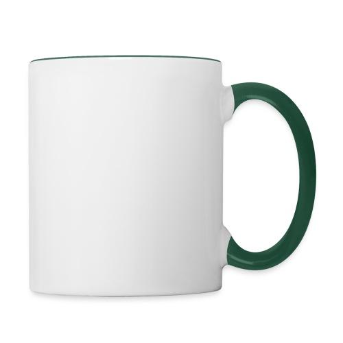 TASSE BICOLORE BLANC / VERT FONCE - Mug contrasté