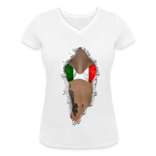 Italian Hottie - Camiseta ecológica mujer con cuello de pico de Stanley & Stella