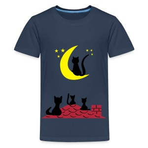 Cats Meow - Katzen miauen - Teenager Premium T-Shirt