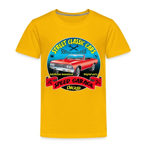 vintage us street car - Kids' Premium T-Shirt