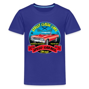 vintage us street car - Teenage Premium T-Shirt