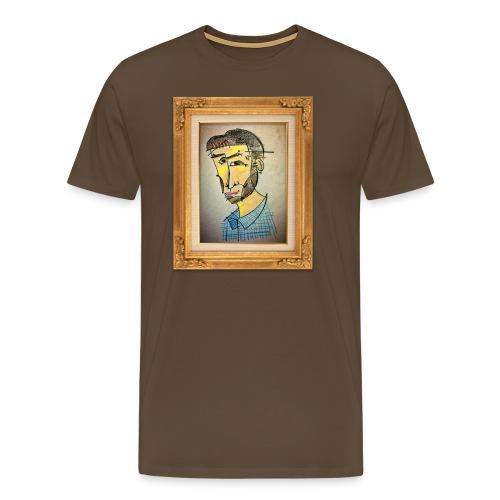 Osymmetrisk Picasso - Premium-T-shirt herr