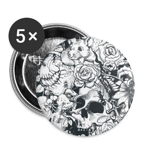Badges - Des Roses et des Souris - Badge grand 56 mm