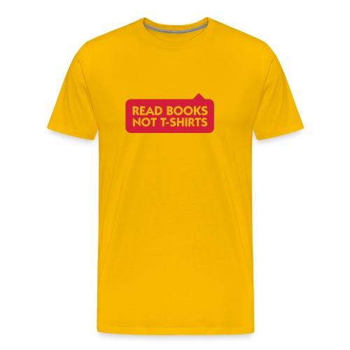 Read books - T-shirt - Premium-T-shirt herr