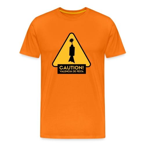 Caution! Valencià de festa - Camiseta premium hombre