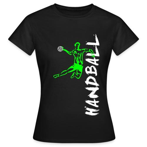 Handballer seitlich - Frauen T-Shirt