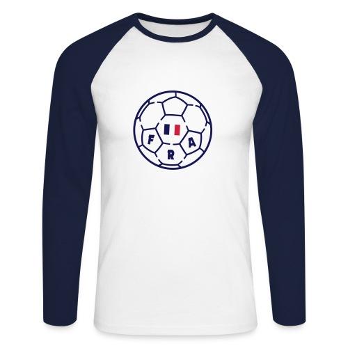 T-shirt baseball ML Homme ROUGE - Foot FRANCE v3 - T-shirt baseball manches longues Homme