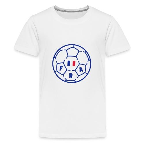 T-shirt premium ado BLANC - Foot FRANCE v3 - T-shirt Premium Ado
