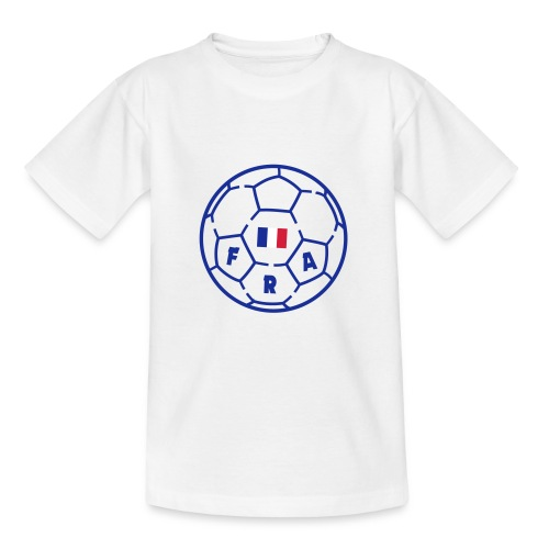 T-shirt Enfant BLANC - Foot FRANCE v3 - T-shirt Enfant