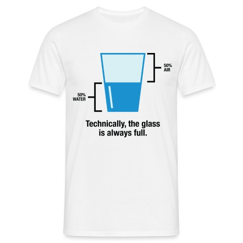 Half empty - Men's T-Shirt