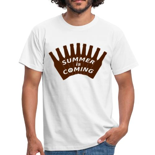 Summer is coming (logo marron) - T-shirt Homme