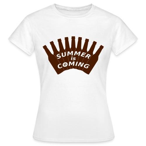 Summer is coming (logo marron) - T-shirt Femme