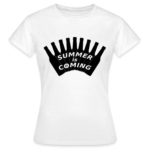 Summer is coming (logo noir) - T-shirt Femme