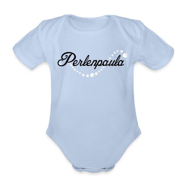 """Babybody """"Perlenpaula"""" rosa-schwarz"""