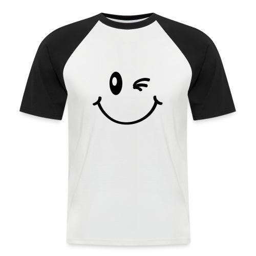 Smile t-shirt - Maglia da baseball a manica corta da uomo