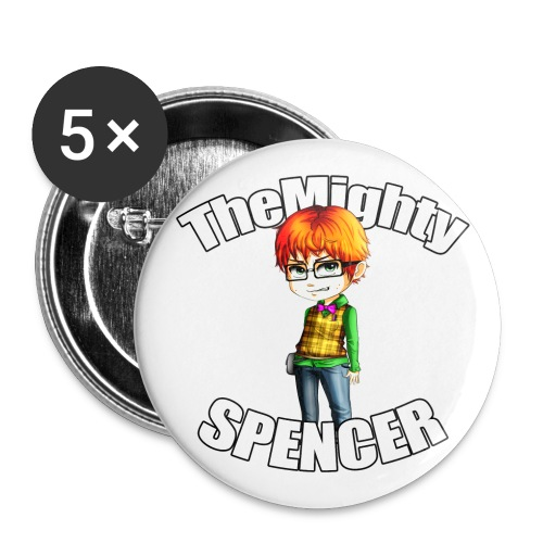 The Mighty Spencer - Buttons large 2.2''/56 mm(5-pack)