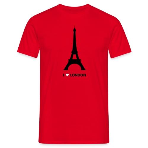 I love London mannen t-shirt - Mannen T-shirt