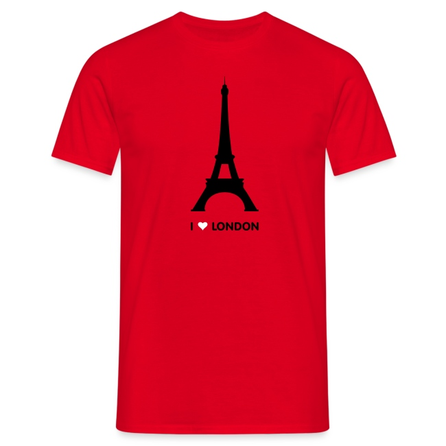 I love London mannen t-shirt