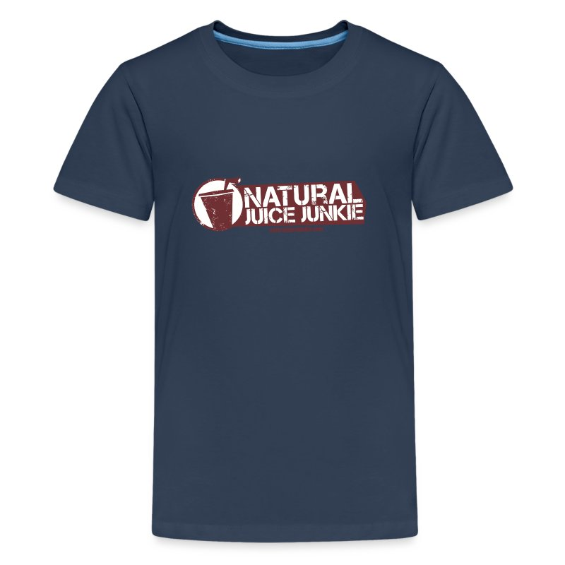 Natural Juice Junkie - Teenager's Logo Tee - Teenage Premium T-Shirt