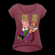 T-Shirts ~ Frauen T-Shirt mit gerollten Ärmeln ~ Artikelnummer 28908789