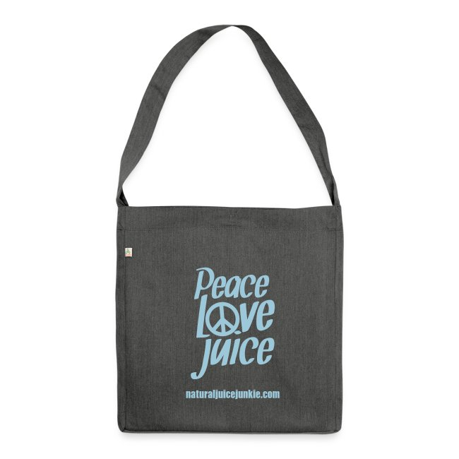 Peace Love Juice Recycled Bag