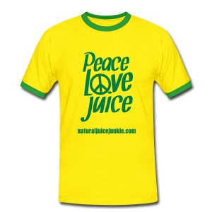 Peace Love Juice - Men's Tee - Men's Ringer Shirt