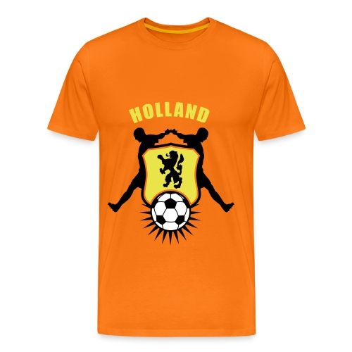 Holland voetbal schild - Oranje Shirt (heren) - Mannen Premium T-shirt