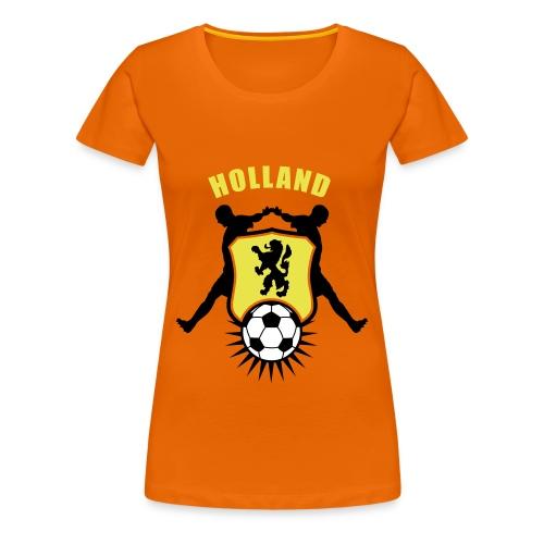 Holland voetbal schild - Oranje Shirt (dames) - Vrouwen Premium T-shirt