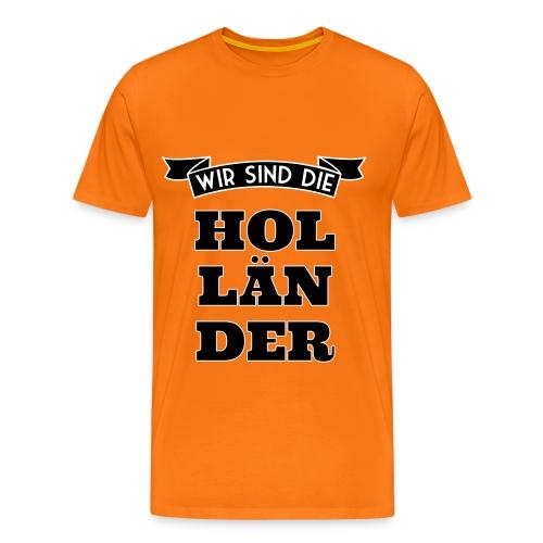Die Hollander - Oranje Shirt (heren) - Mannen Premium T-shirt
