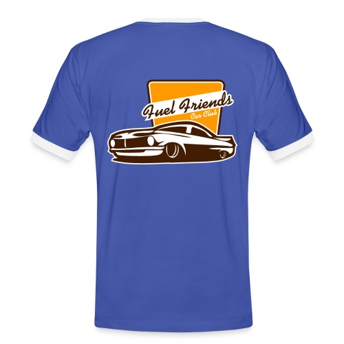 retro T-shirt logo fuel friends back + front - Mannen contrastshirt