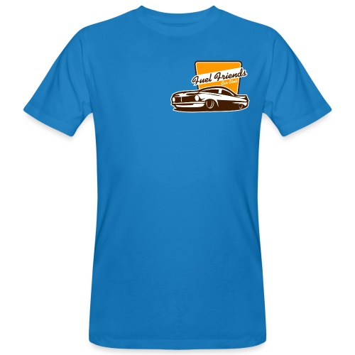 T-shirt logo fuel friends back + front - Mannen Bio-T-shirt