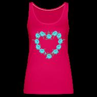 Tops ~ Vrouwen Premium tank top ~ Bue roses heart patjila designer