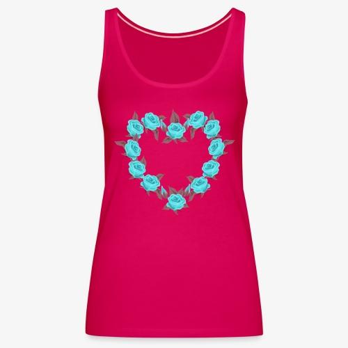 Bue roses heart patjila designer - Women's Premium Tank Top