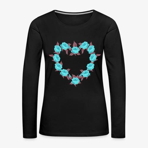 Bue roses heart patjila designer - Women's Premium Longsleeve Shirt