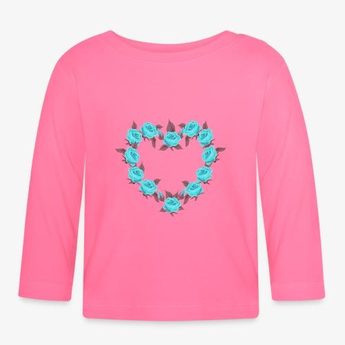 Bue roses heart patjila designer - Baby Long Sleeve T-Shirt