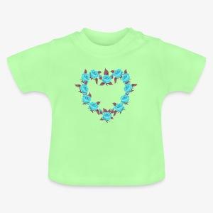 Bue roses heart patjila designer - Baby T-Shirt