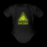 Baby Bodys ~ Baby Kurzarm-Body ~ Nicht Ansprechen Explosiv!
