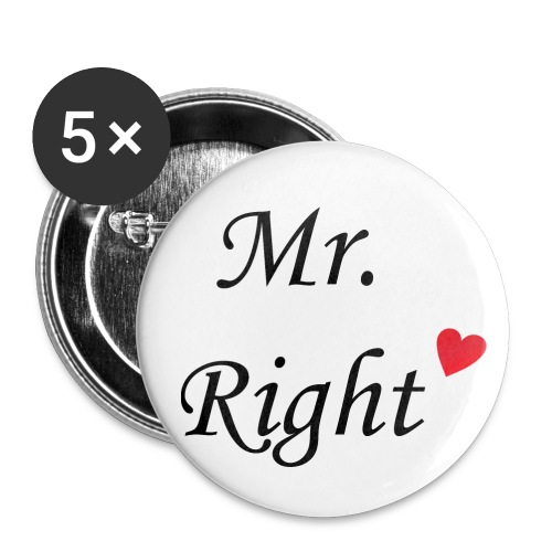 Mr Right Button 32mm - Buttons mittel 32 mm