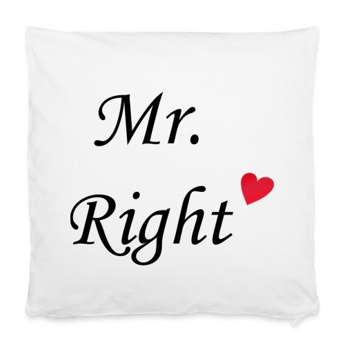 Mr Right - Kissen klein - Kissenbezug 40 x 40 cm