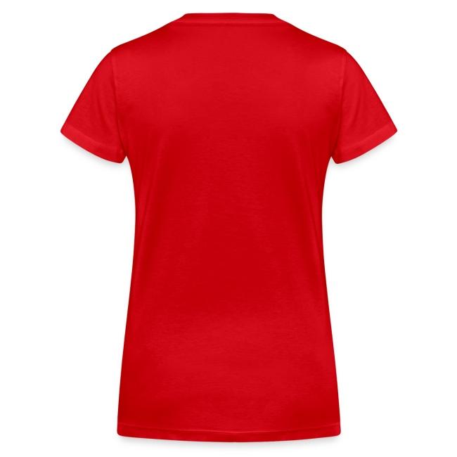 V-ringad t-shirt dam röd