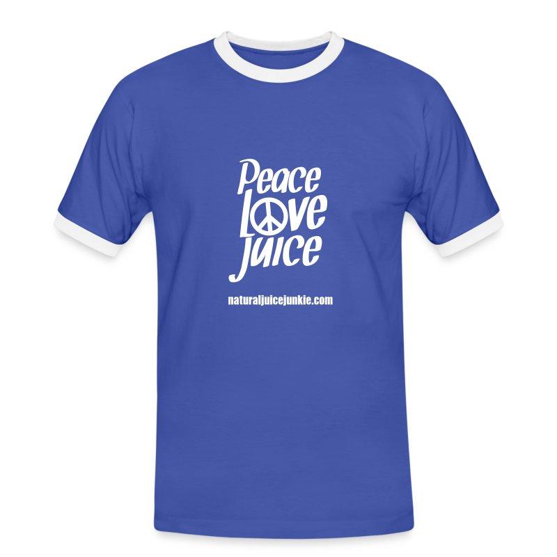Peace Love Juice (white) - Men's Tee - Men's Ringer Shirt