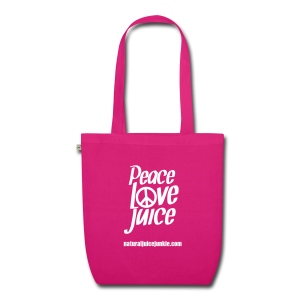 Peace Love Juice - Organic Tote Bag - EarthPositive Tote Bag