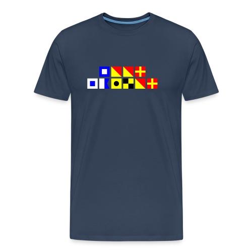 Signalflagshirt - Miesten premium t-paita