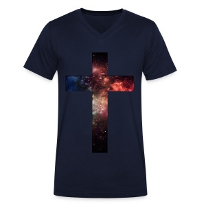 Galaxy Cross - Mannen bio T-shirt met V-hals van Stanley & Stella