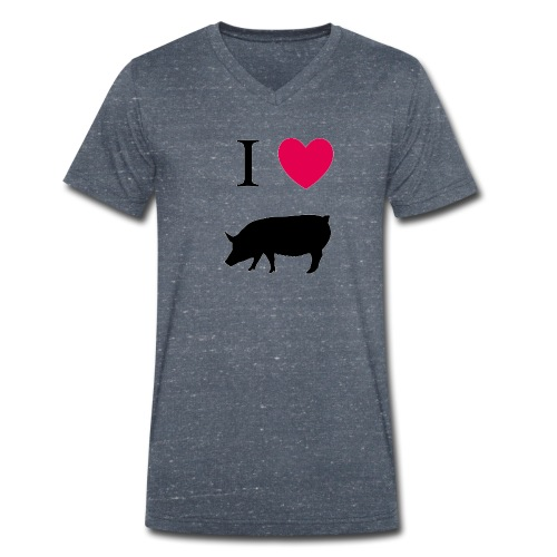 i love porc - T-shirt bio col V Stanley & Stella Homme