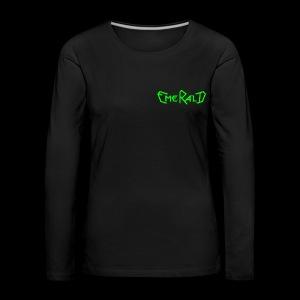 Schriftzug klein - Frauen Premium Langarmshirt