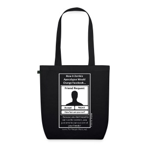 Tote Bag - Zombie Facebook - EarthPositive Tote Bag