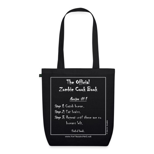 Tote Bag - The Official Zombie Cook Book - EarthPositive Tote Bag